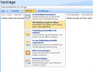 "Menüpunkt ""Mit Windows Explorer öffnen"""
